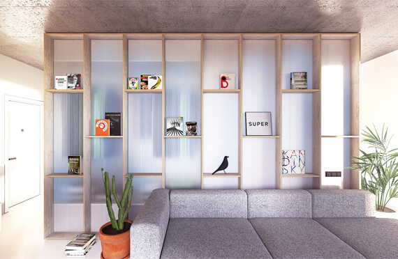 Apartment for young designers